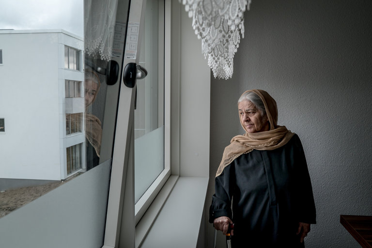 The Danish authorities have called for Zarmena Waziri, 70, who has dementia, to be deported to Afghanistan. She has suffered multiple strokes and has high blood pressure. Credit Andrew Testa for The New York Times